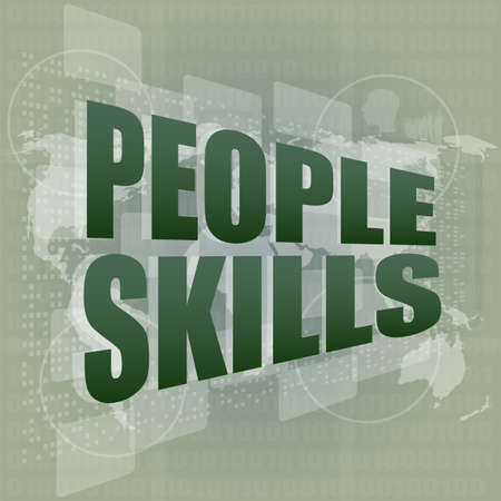 people skills words on digital touch screen Stock Photo - 18218643