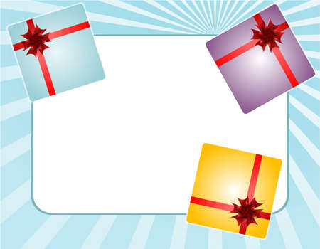 gift box set with empty paper card invitation card Stock Photo - 18259984