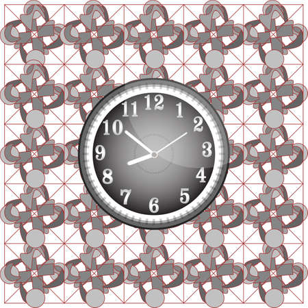 Abstract background pattern with modern wall clock photo