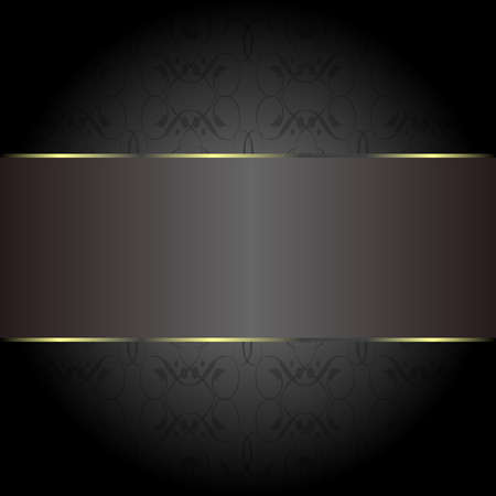 cards gold on the black. Business cards. Visiting cards. Invitations photo