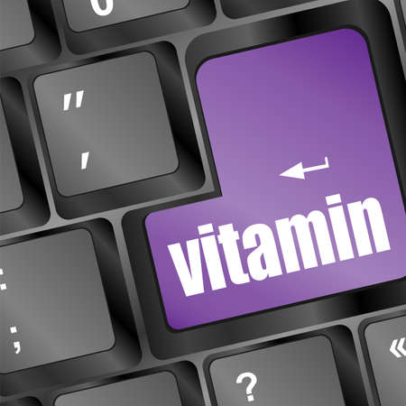 vitamin word on computer keyboard pc photo