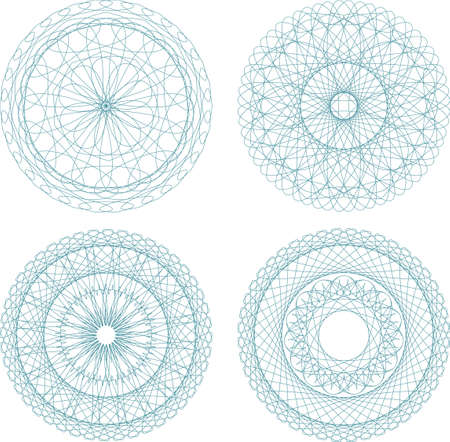 A set of beautiful mandalas and lace circles Stock Photo