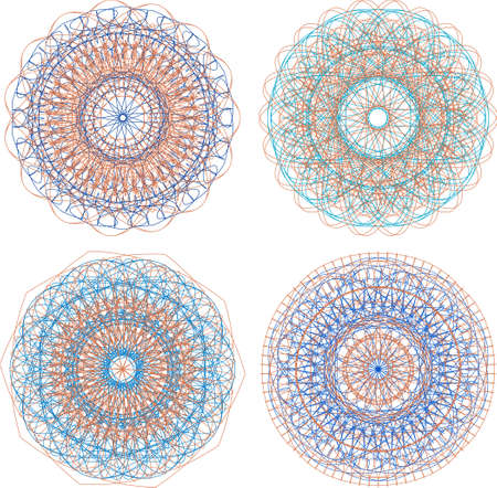A set of beautiful mandalas and lace circles Stock Photo - 18409064