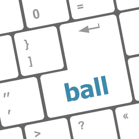 word ball on computer pc keyboard photo