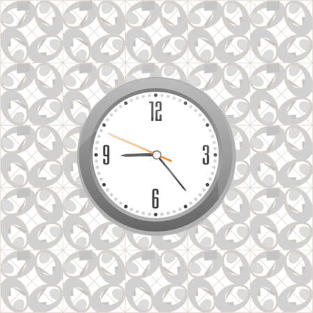 grey clock on wall pattern style background Stock Photo - 18515877