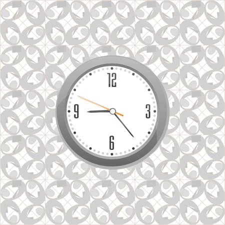 grey clock on wall pattern style background Stock Photo - 18515877