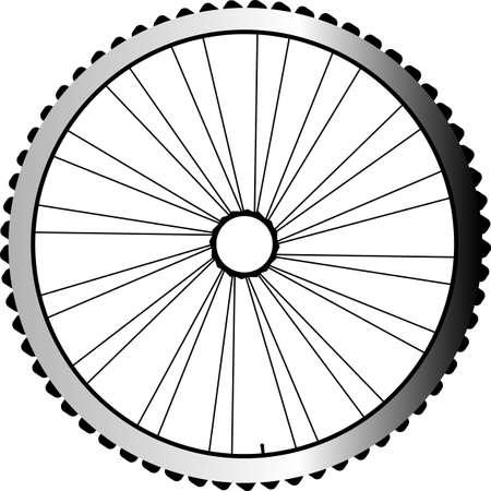velocipede: Bike wheel isolated on white background Stock Photo