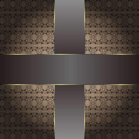 brown vintage background pattern. old wallpaper photo