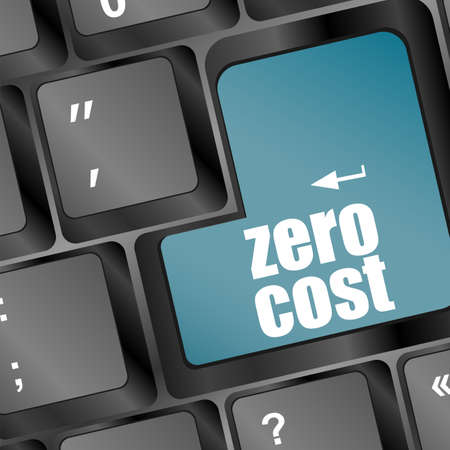 Zero Cost Keys Show Analysis And Value Of An Investment photo