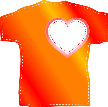 T-shirt templates with love valentine heart photo