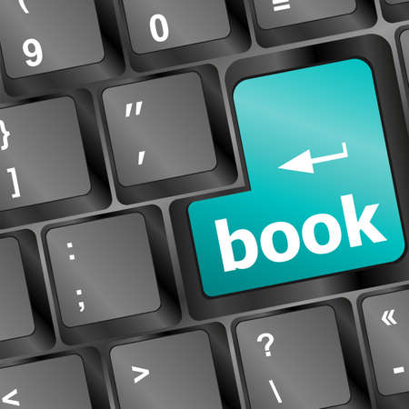 key words  art: Book button on keyboard - business concept