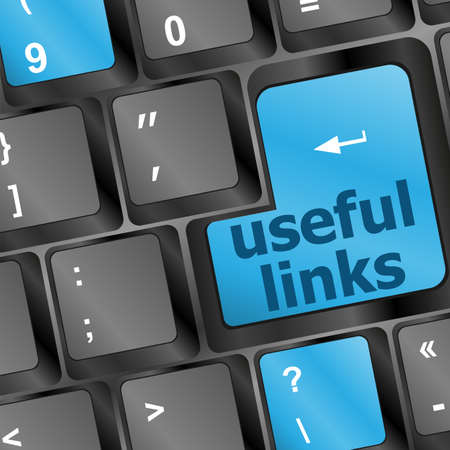 useful links keyboard button - business concept photo
