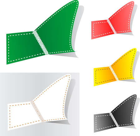 Set of colorful tag labels photo