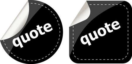 Get quote stickers set photo