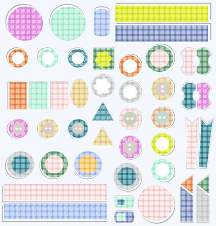set of cute scrapbook elements photo