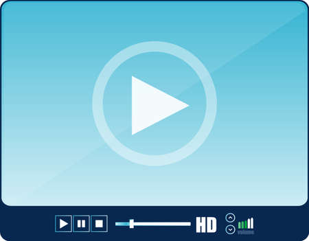 video icon: blue video player for web