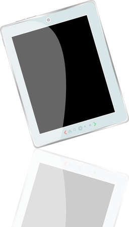 White abstract tablet pc on white background, 3d Stock Photo - 18705264