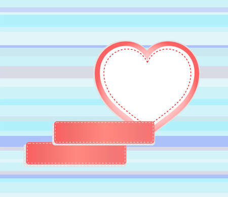 background made of red heart and empty stickers for text photo