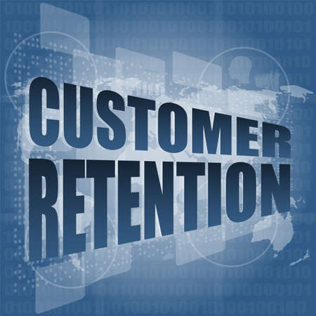 customer retention word on business digital screen photo