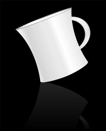 white coffee cup on black background Stock Photo - 19056765