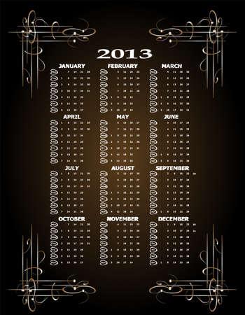Vintage 2013 calendar photo