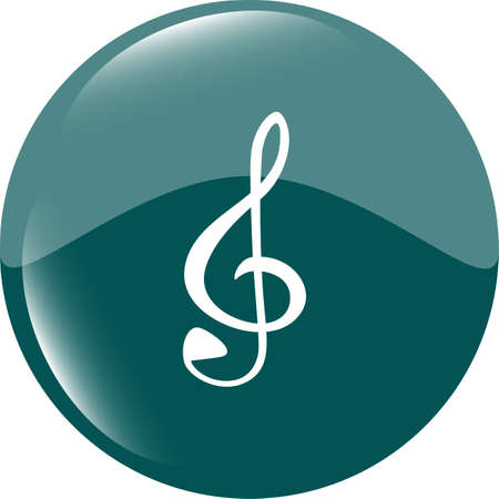 music round glossy web icon on white background photo