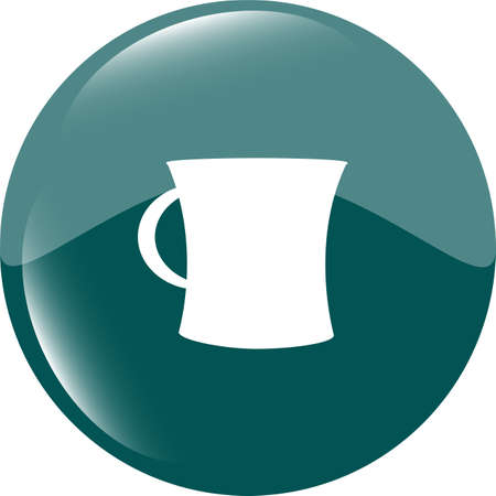 expresso: coffee cup button icon Stock Photo