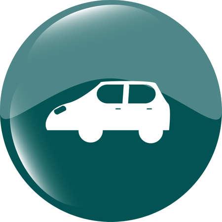 Car icon button design elements Stock Photo - 19099782