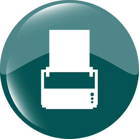printer glossy icon buttons for web photo