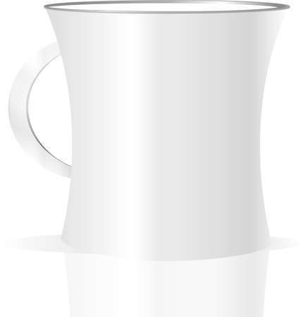 photorealistic white cup Stock Photo - 19099917