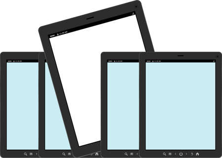 Set of color tablet pc computers photo