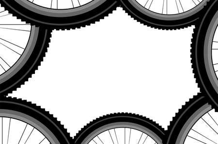 velocipede: Bike wheel isolated on white background, sports pattern