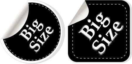 big size clothing stickers set - fashion theme photo