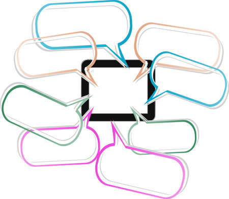 tablet pc designed in form of speech bubble 3d concept Stock Photo - 19207880