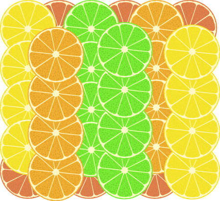 citrus fruits vector pattern background - grapefruit, lemon, lime photo