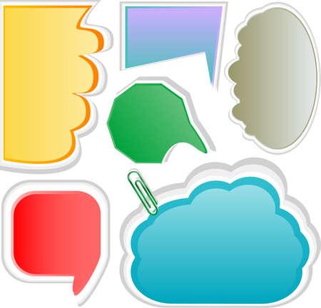 Paper cloud bubble for speech vector set photo