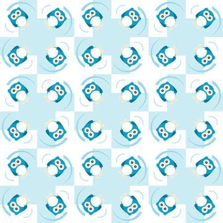 Cute seamless owl background pattern photo