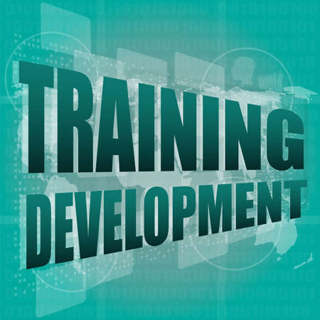 Education and learn concept: Training Development on digital screen Stock Photo