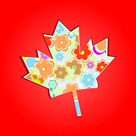 canada day: Canada Maple Leaf Background Stock Photo
