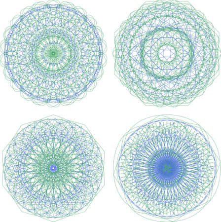 Mandala. Round ornament pattern set photo
