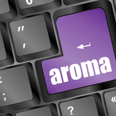 Keyboard with word aroma on enter button Stock Photo - 19335797