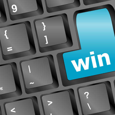Computer keyboard with Win key photo