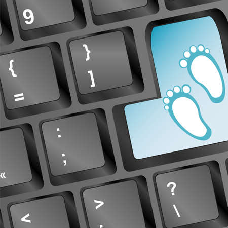Keyboard with legs on enter button Stock Photo - 19335848