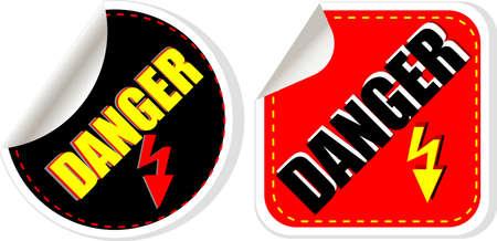High voltage danger sign, symbol