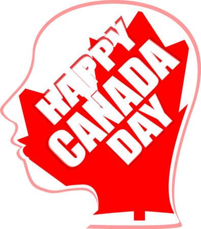 marple: human head in canada flag - happy canada day