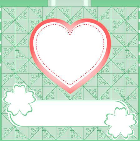 asbo: Graffiti love valentine heart. Wedding green background