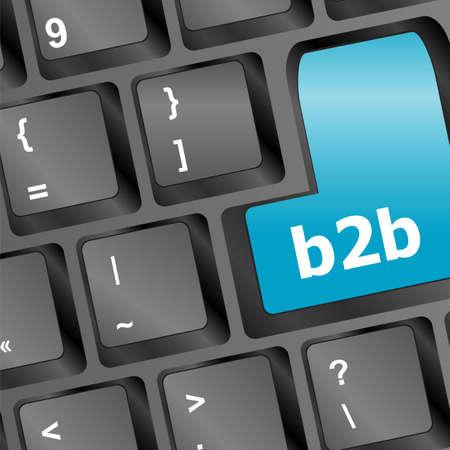 b2b: palabra b2b en el teclado digital, Foto de archivo