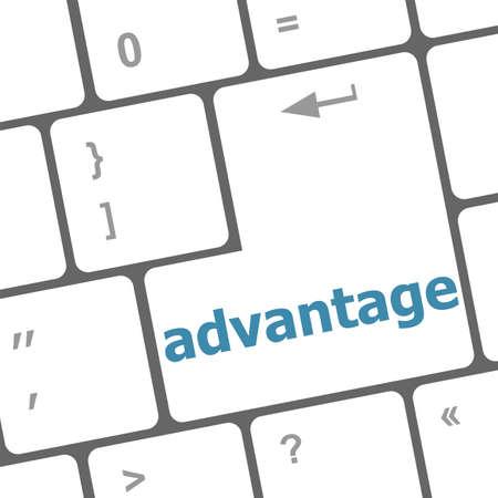 advantage: Close up view on conceptual keyboard - advantage Stock Photo