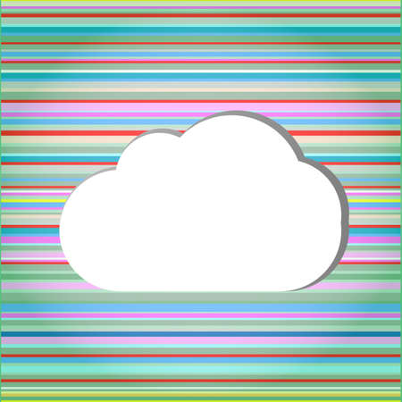 Abstract speech bubbles in the shape of clouds used in a social networks photo