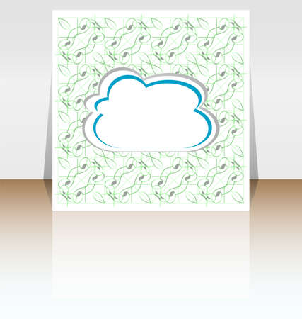 Abstract speech bubble in cloud shape, cover design photo